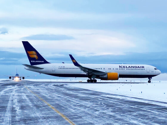 Icelandair Boeing 767-300ER reg. TF-ISW in Keflavik airport // Source: Ívan Elís