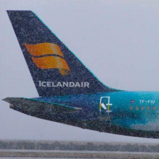 "Icelandair Boeing 757-200 reg. TF-FIU ""Hekla Aurora"" in Keflavik airport in April 2020 // Source: Brynjar Hauksson"