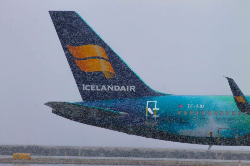 "Icelandair Boeing 757-200 reg. TF-FIU ""Hekla Aurora"" in Keflavik airport in April 2020 // Source: Brynjar Hauksson"