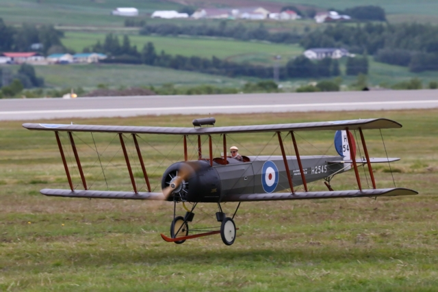 The model of Avro 504K, the first plane to fly in Iceland 3 sept. 1919 // Source: Hörður Geirsson