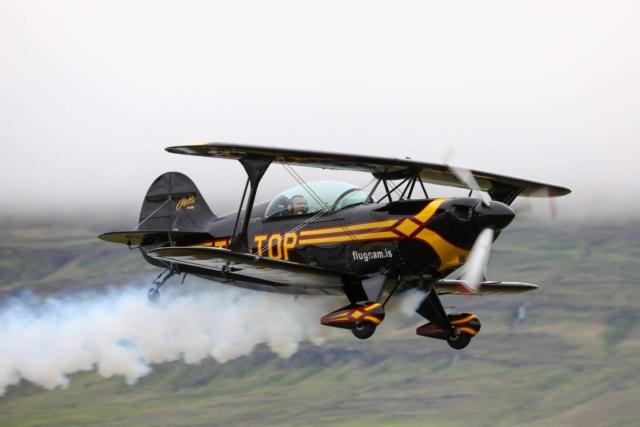 Pitts S-2B reg. TF-TOP, piloted by Kristján Þór Kristjánsson // Source: Hörður Geirsson