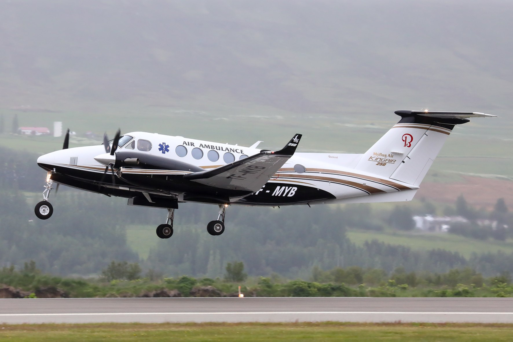 Mýflug Beechcraft King Air 250 reg. TF-MYB // Source: Hörður Geirsson