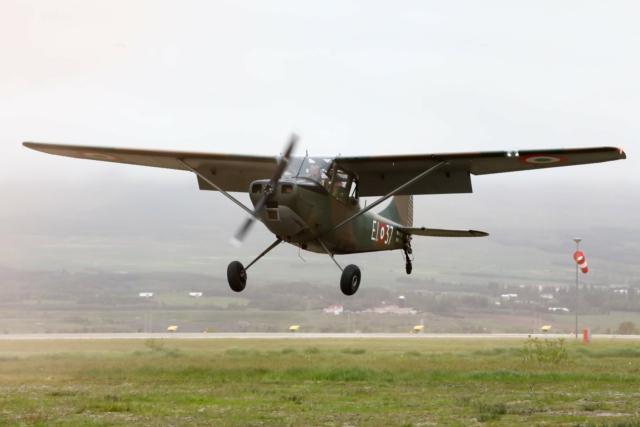 Cessna O-1E, piloted by sigurður Ásgeirsson // Source: Hörður Geirsson
