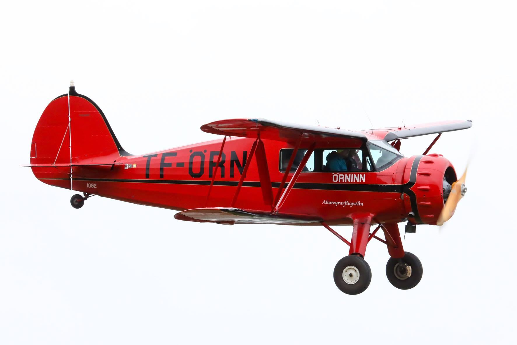 Waco YKS-7 reg. TF-ÖRN, piloted by Krstján Þór Kristjánsson, was very popular air transport in Iceland in 1930s // Source: Hörður Geirsson