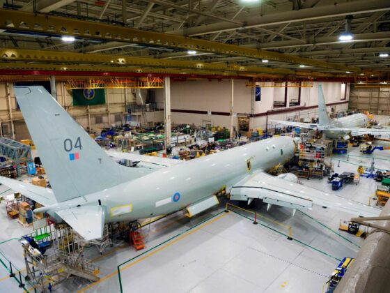 The fourth Poseidon MRA1 maritime patrol aircraft is due to be delivered to the RAF on Tuesday 3rd November 2020 // Source: RAF