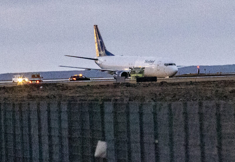Bluebird Nordic Boeing 737 reg. TF-BBJ experienced taxiway excursion in Keflavik airport // Source: VF (Hilmarbragi)