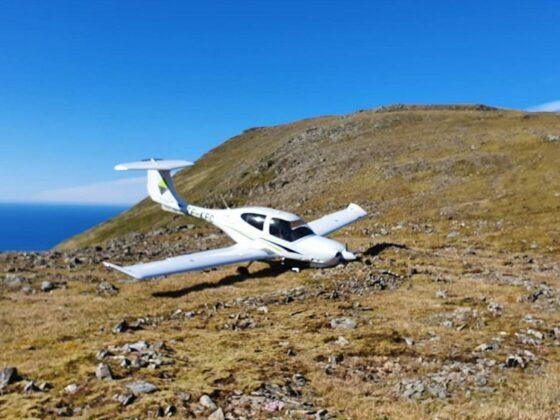 Keilir Aviation Academy Diamond DA20 TF-KFC crahs in Western Fjords // Source: Umhverfisstofnun (Sigurlína Hilmarsdóttir)