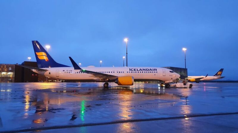 Icelandair Boeing 737 MAX 8 reg. TF-ICN departing from Keflavik first time after grounding // Source: Mārtiņš Zaķis