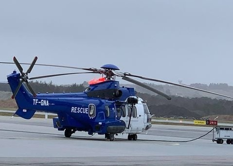 Airbus H225 with reg. TF-GNA is preparing to depart from Stavanger to Reykjavik // Source: Leonardo AW101 SAR/Westland Sea King (Facebook)