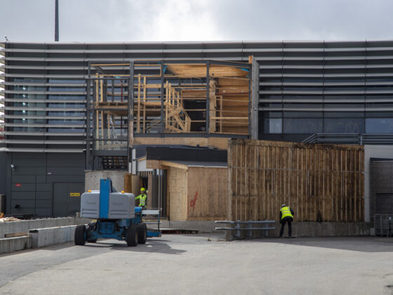 The construction site in Keflavik airport // Source: Víkufréttir