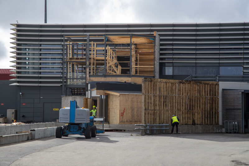 The construction site in Keflavik airport // Source: Víkufréttir