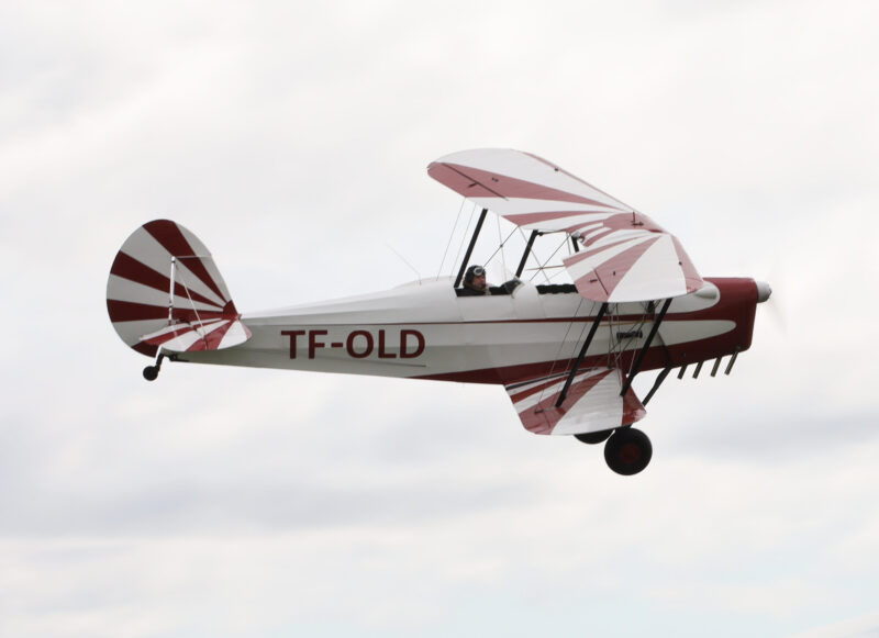 "Stampe et Vertongen SV.4 reg. TF-OLD at airshow ""Allt sem flygur 2021"" in Hella // Source: Jón Sverrir Sigurðarson"