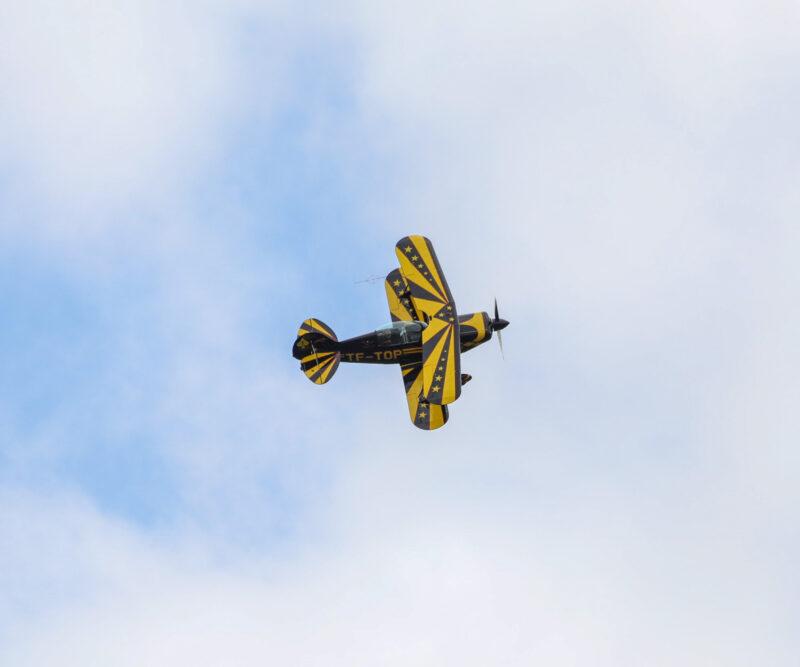 """Pitts S-2B reg. TF-TOP at airshow """"Allt sem flygur 2021"""" in Hella // Source: Jón Sverrir Sigurðarson"""