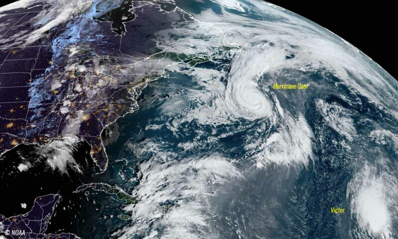 Hurricane Sam is moving to Iceland // Source: US National Oceanic and Atmospheric Administration
